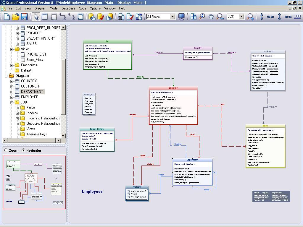 Xcase Professional Trial Edition 8.1.  Xcase is a complete database design and maintenance tool.